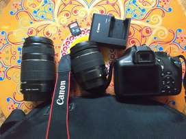 Canon1300D DSLR WITH TWO LENSE