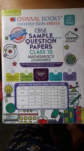 Oswal sample question paper class 10 CBSE Mathematics(standard) 2021