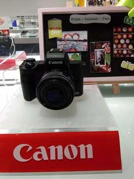 Ready stock Kamera Canon EOSM50 cicil tanpa kartu kredit bisa banget