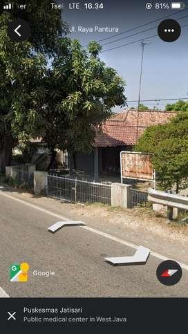 Dijual Rumah/ Tanah Seluas 526M2 pinggir jalan raya utama