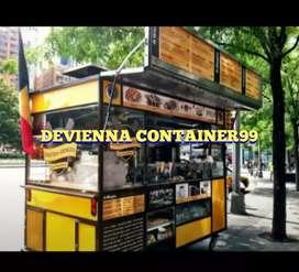 Booth Container pizza / burger container custom Container restoran