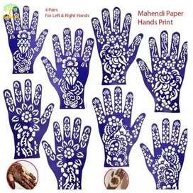 Makeup Beauty Salon mehndi papers designs for Left & Right Hands best
