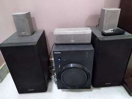 Phillips whooper with panasonic speaker and JVC small speakers