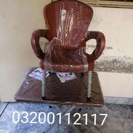Plastic chairs high back set with table