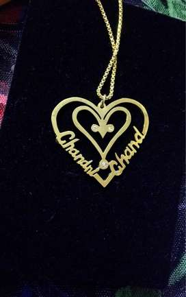 Name lockets with chain