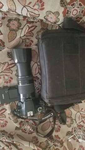 Cannon 1200d with 75/300mm lens for sale