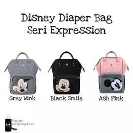 Disney Diaper Bag seri Expression, tas ransel bayi, tas bayi