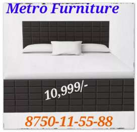 6×6 double Bed with heavy storage boxes