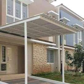 @76 canopy minimalis rangka tunggal atapnya alderon pvc bikin nyaman