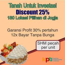 Kavling Murah Prambanan Asri 2 dekat Wisata Candi, Pasti Profit 30%