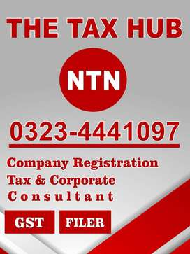 Income Tax NTN, Company Registration, Filer, FBR Sales Tax PRA Active