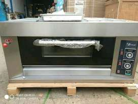 Gas Oven Kue 1 Deck 2 Trai Stainles Steel Fomac