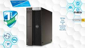 hp/ video editing system/dell t5810 workstation with 1 year warranty