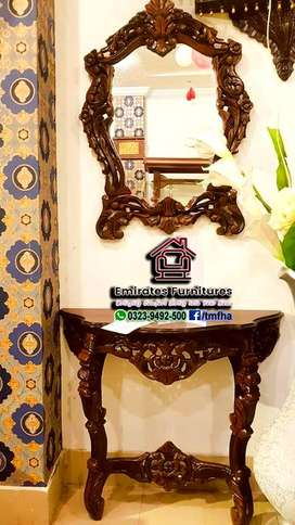 Sheesham wood Console Table Mirror Frame