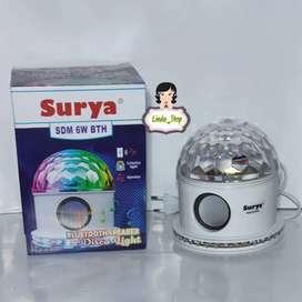 Surya Lampu Disko SDM 6 watt Speaker VIA BLUETOOTH