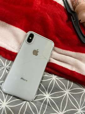 Iphone X back glass crack 64gb factory pta approved
