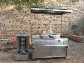 Shawarma machine stainless steel with 2 hot plates.9/10 condition
