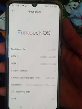 A smart phone Vivo z1x