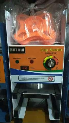 Mesin pres minuman / cup sealer merek matrix