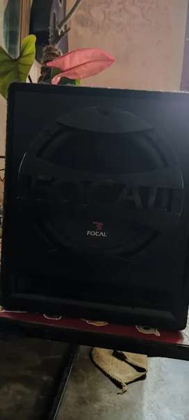 Focal bass speaker for car with sony xptod amplifier.