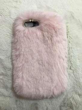 Casing Iphone 7 / 8 plus pink fur