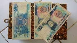 Uang kertas kuni Rp 1000,- sisingamangaraja tahun 1987