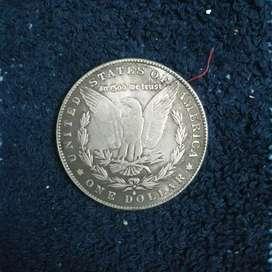 Koin Kuno 1888 USA ONE DOLLAR Coin