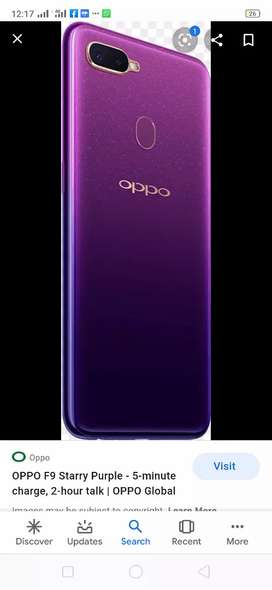 Selling My oppo f9 purple clr in good condition