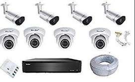 Long range 8 HD CCTV Camera full setup installation