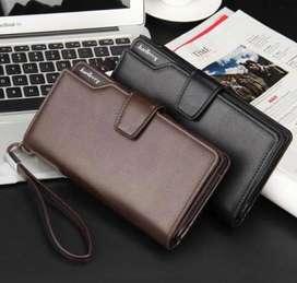 Dompet kulit coklat hitam
