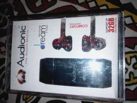AUDIONIC MP3 PLAYER 7700 SOUND MASTER DANYTECH TECHNOLOGIES 32GB SUPP