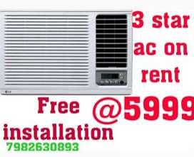 Ac on rent 3 star***free installation