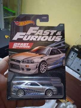 Hotwheels Fast And Furious Nissan Skyline R34