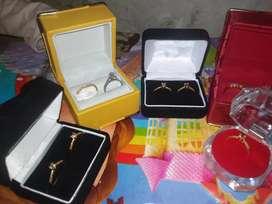 Berlian Eropa ring emas putih