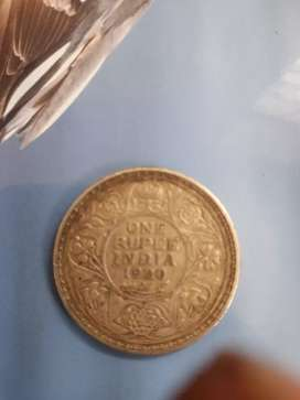 GEORGE V KING 1920 ,one rupee coin of 1920