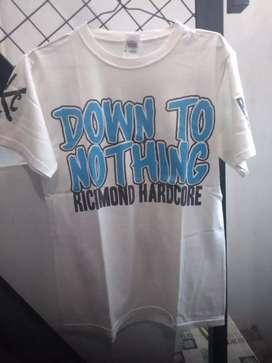 Kaos T shirt baju band original  Second Down to nothing