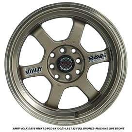 VELG RACING AGYA AYLA BRIO JAZZ VOLK RAYS R16X7.0 8X100-114,3 ET32