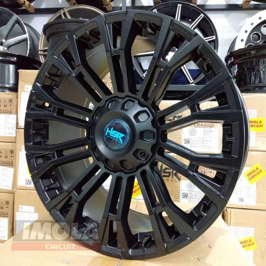 Velg mobil racing terbaru r20 HSR wheel myth02 lubang 6x139,7 Hitam