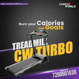New year Special offer on 3 Hp Motorized Treadmill with 100 kg user wt