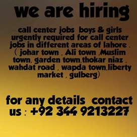 Call center job in lahore for male and female