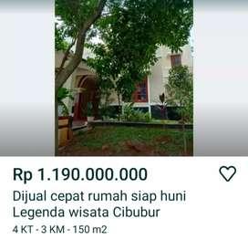 Dijual rumah dilegenda wisata cibubur jakarta