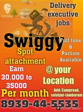 Swiggy delivery executive jobs