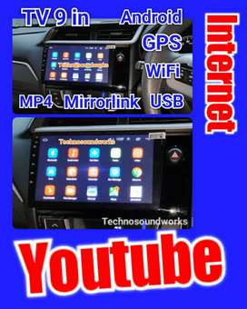 Tv 9 in internet android wifi YouTube mp4 usb for paket sound