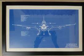 Aircraft Drawing Avenger TBM-3 Attack Bomber