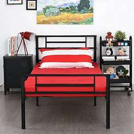 New Single Iron Beds Fixed Type. Best Durable Economical Bed