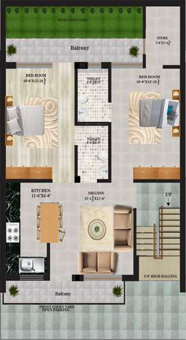 GMADA Approved 2BHK Floors for sale