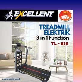 treadmill elektrik TL-615 G-41 alat olahraga lari