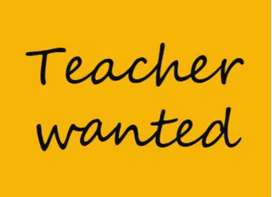 Required Lady Teacher for Play Class children
