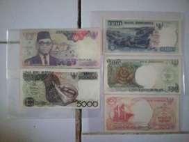 Uang kertas satu set mini lengkap tahun 1992