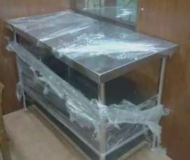 2 months old stainless steel working table unused